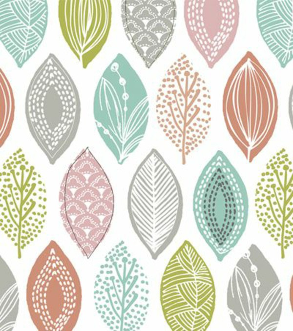 Wallpaper Pattern Feather Colorful Wall Decoration